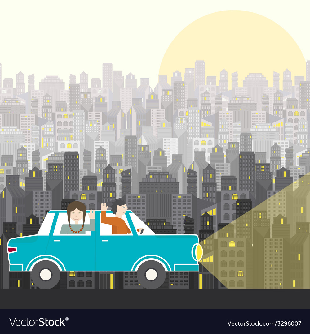 Road trip vector | Price: 1 Credit (USD $1)
