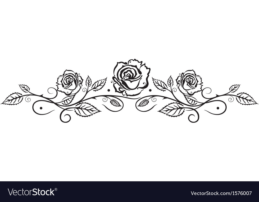 Rose leaves flower vector | Price: 1 Credit (USD $1)