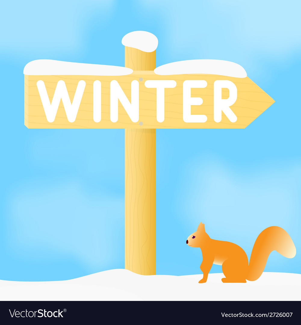 Sign with the inscription winter vector | Price: 1 Credit (USD $1)