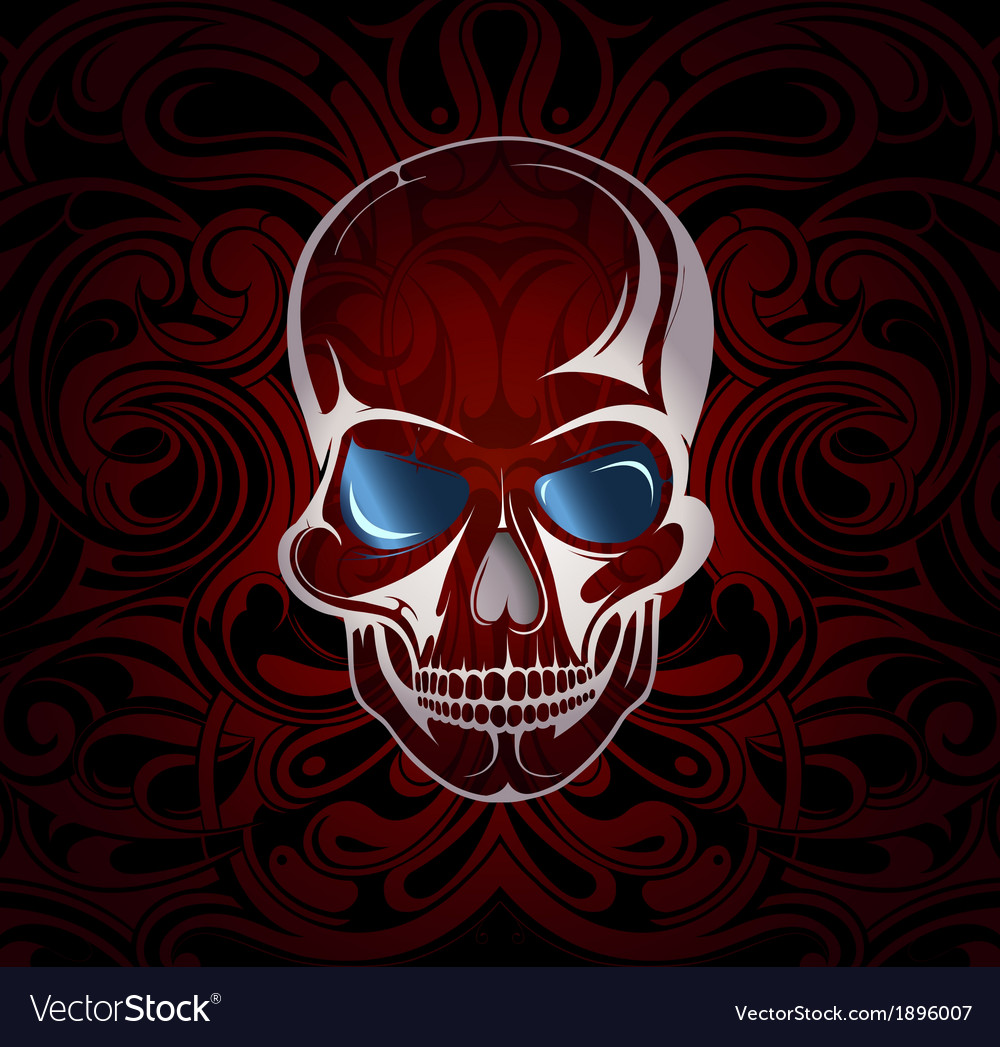 Stylised skull vector | Price: 1 Credit (USD $1)