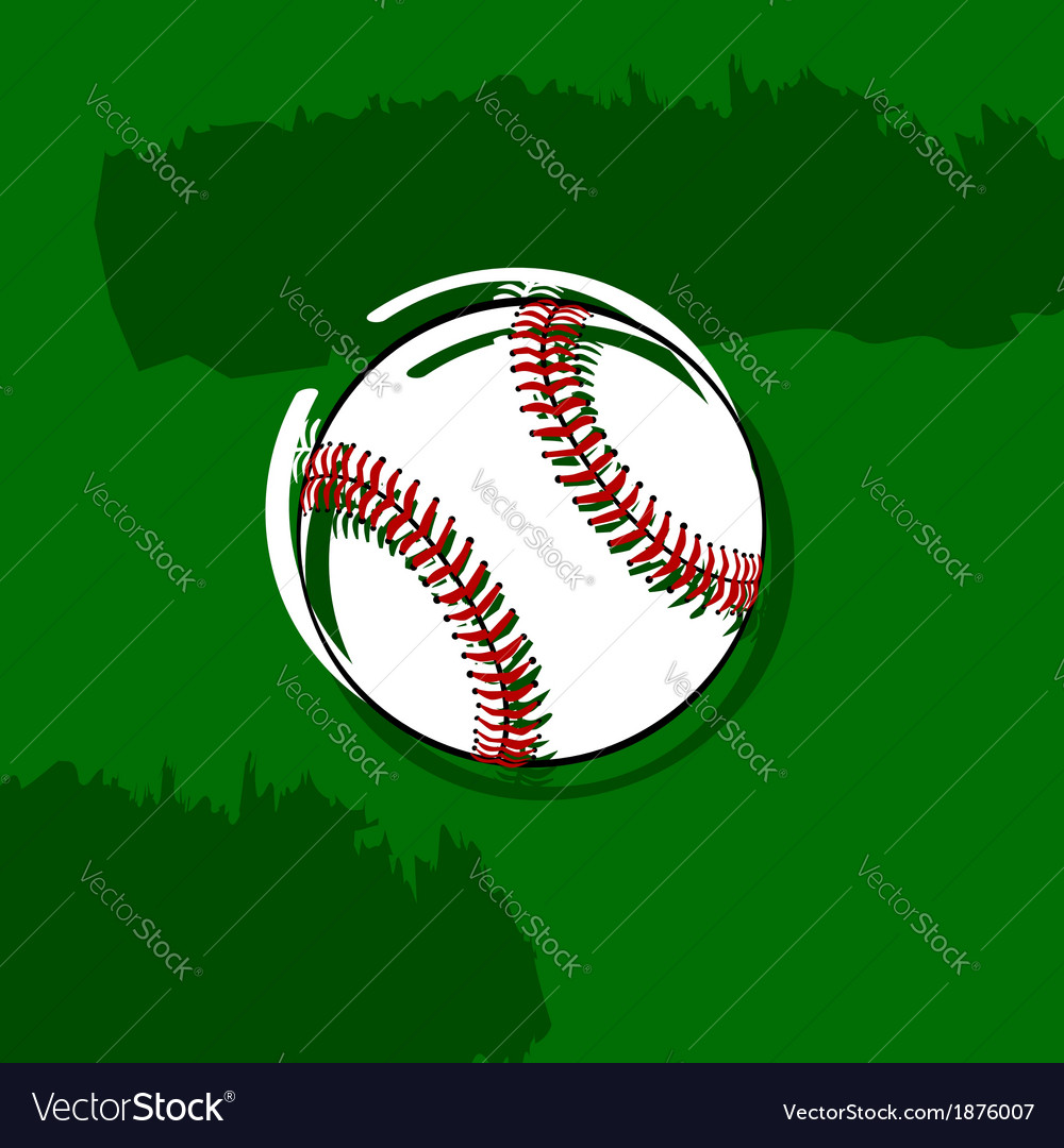 Stylized baseball vector | Price: 1 Credit (USD $1)