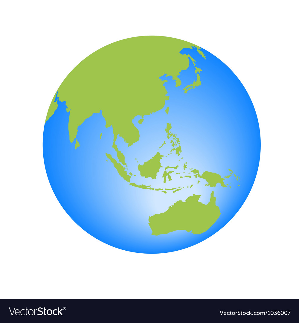 World globe editable vector | Price: 1 Credit (USD $1)