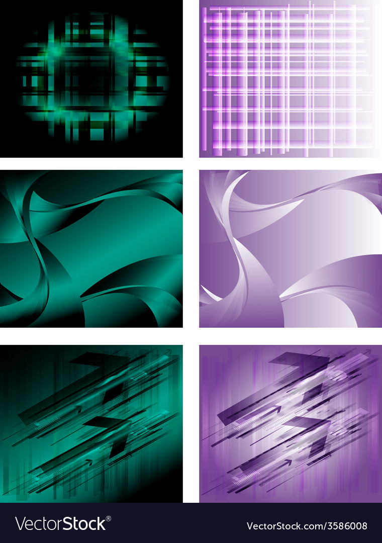 Abstract retro background collection vector | Price: 1 Credit (USD $1)