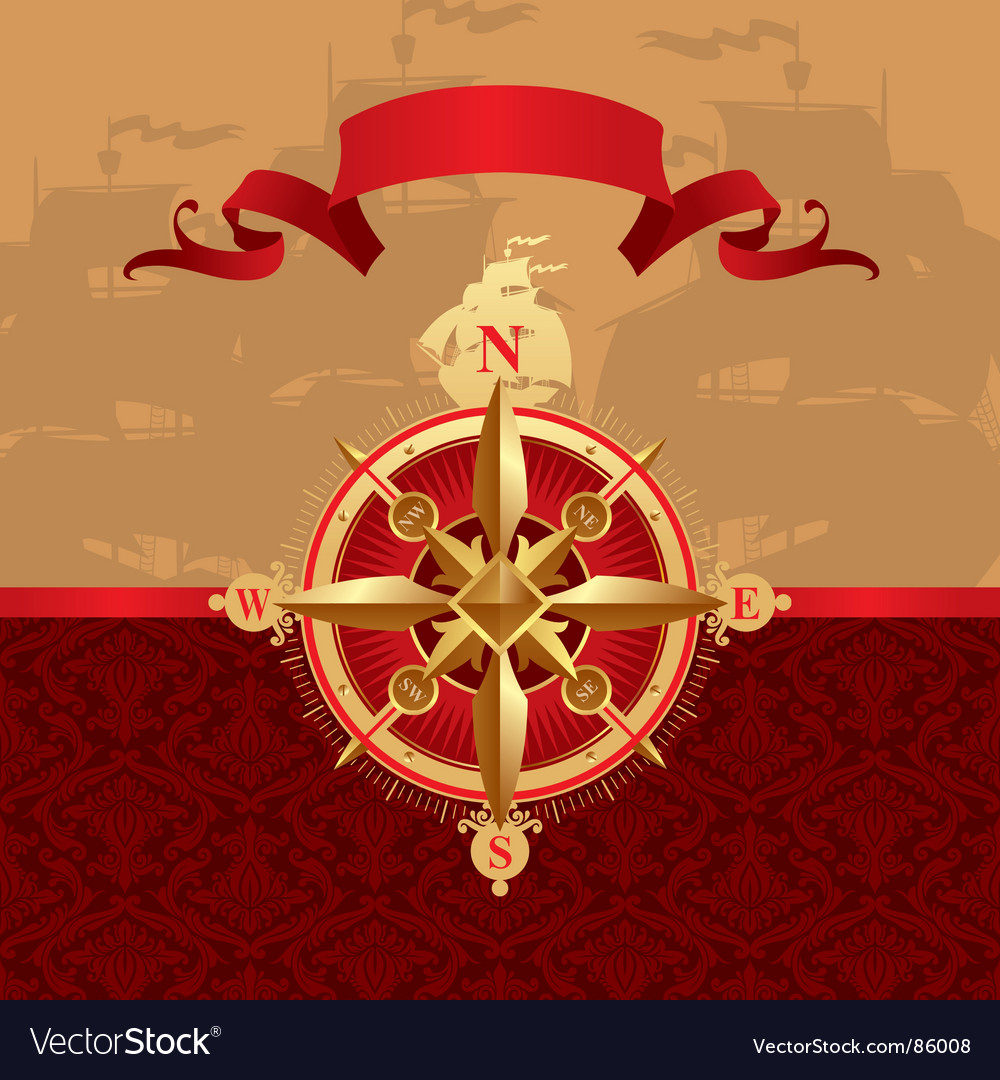 Ancient compass rose vector | Price: 1 Credit (USD $1)
