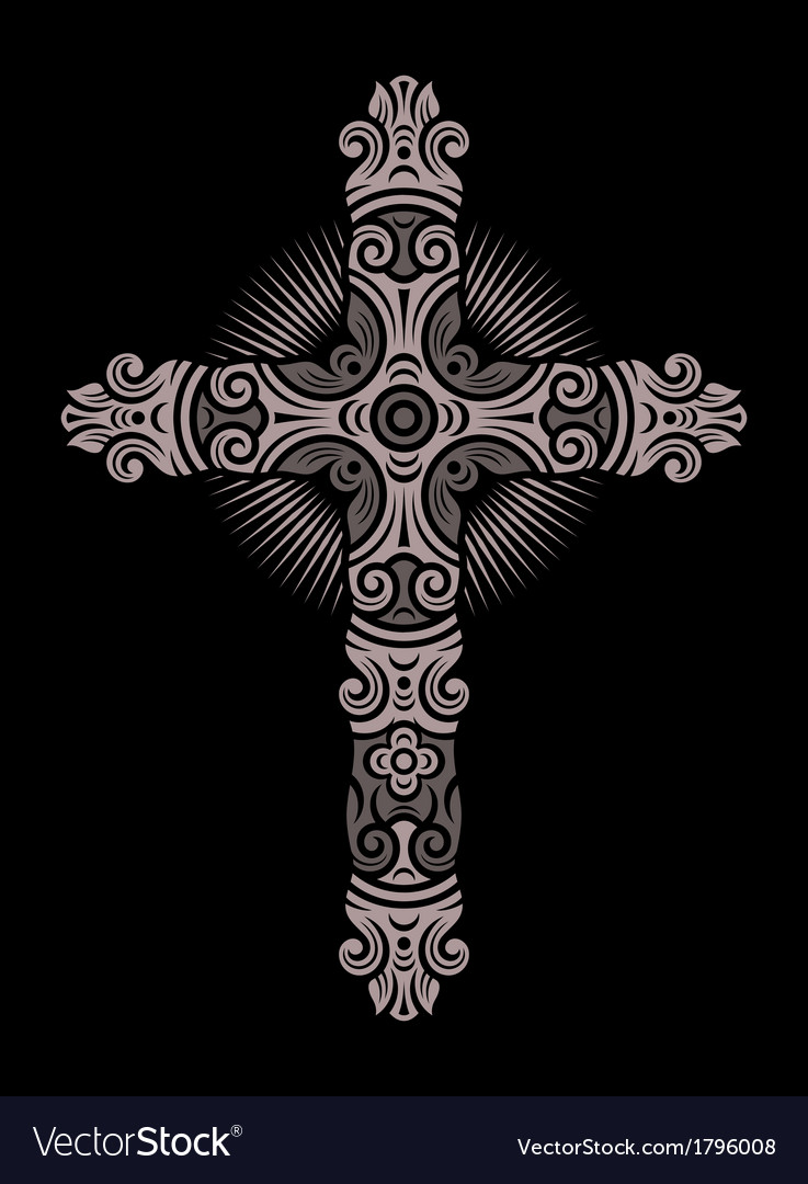 Antique cross ornament vector | Price: 1 Credit (USD $1)