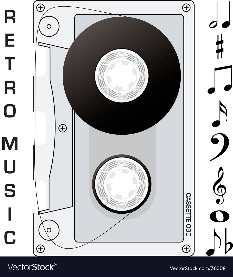 Audio cassette vector | Price: 1 Credit (USD $1)