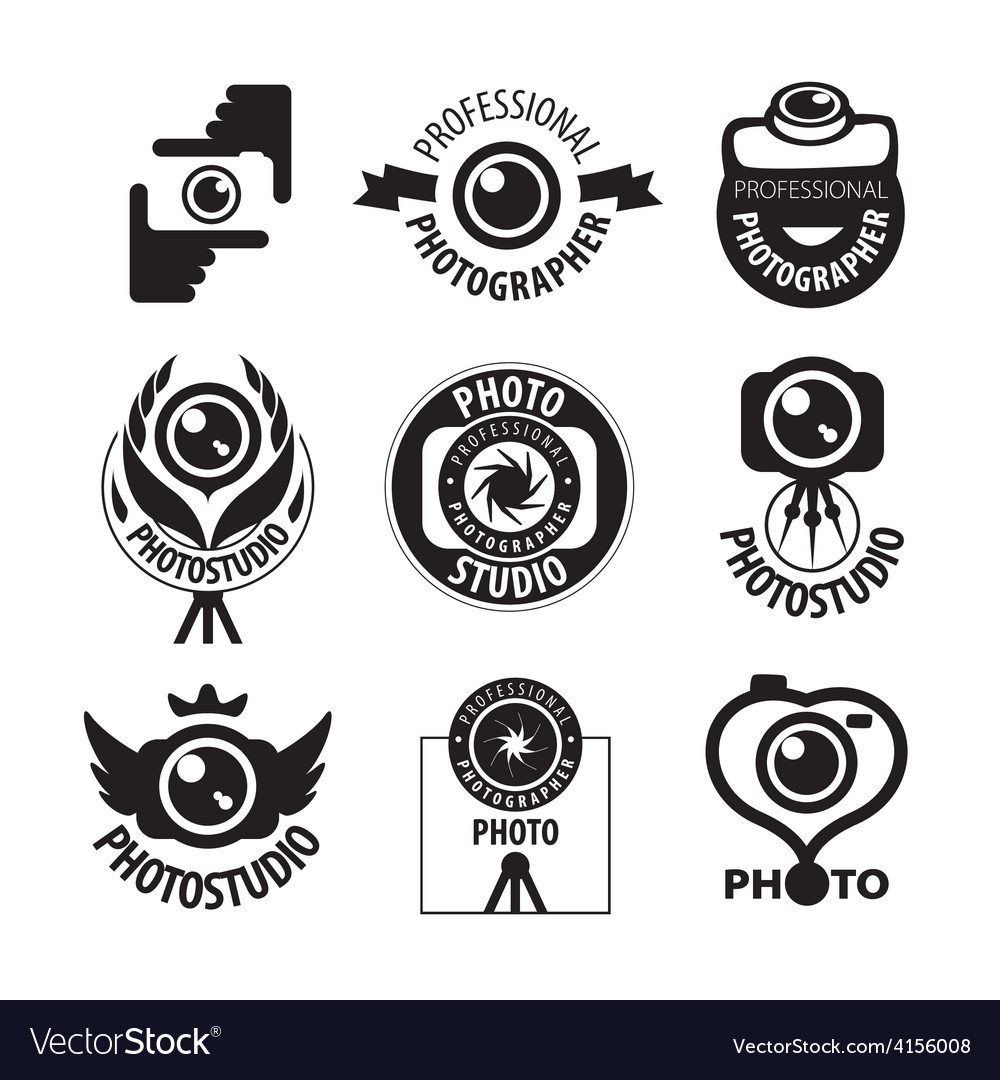 Big set of logos for professional photographer vector | Price: 1 Credit (USD $1)