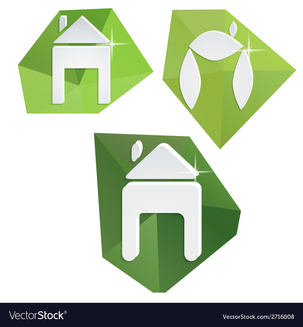 Collection of paper icons on polygonal triangular vector | Price: 1 Credit (USD $1)