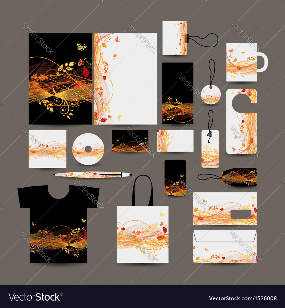 Corporate business style design folder bag label vector | Price: 1 Credit (USD $1)