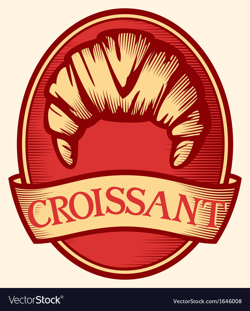 Croissant label vector | Price: 1 Credit (USD $1)