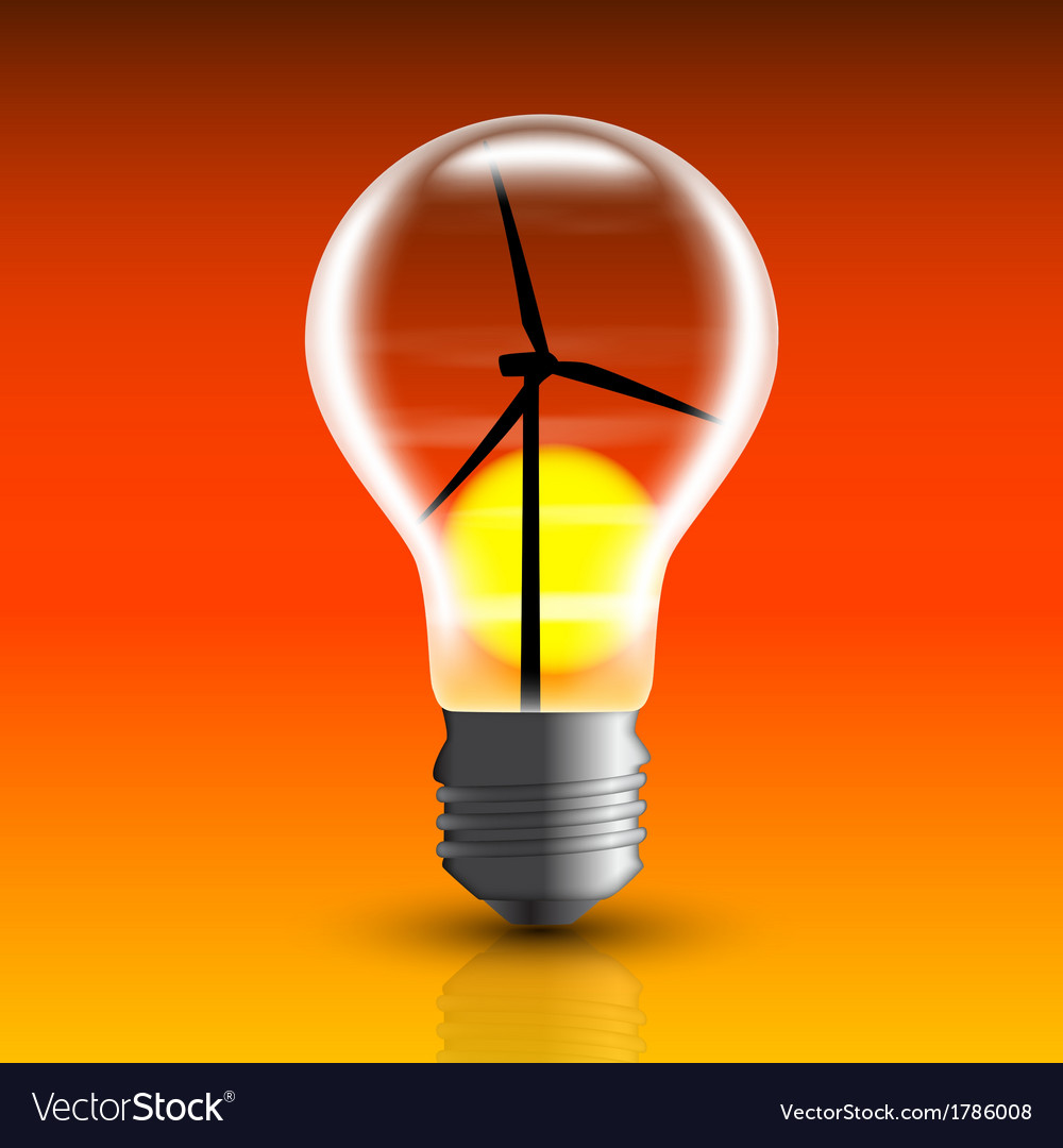 Eco bulb 2 vector | Price: 1 Credit (USD $1)