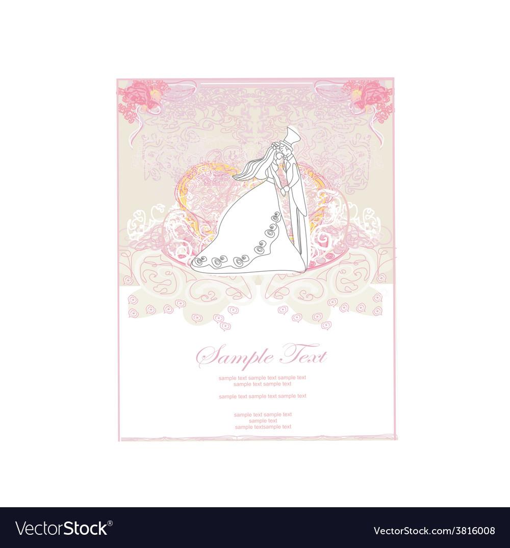 Elegant wedding invitation card with wedding vector | Price: 1 Credit (USD $1)