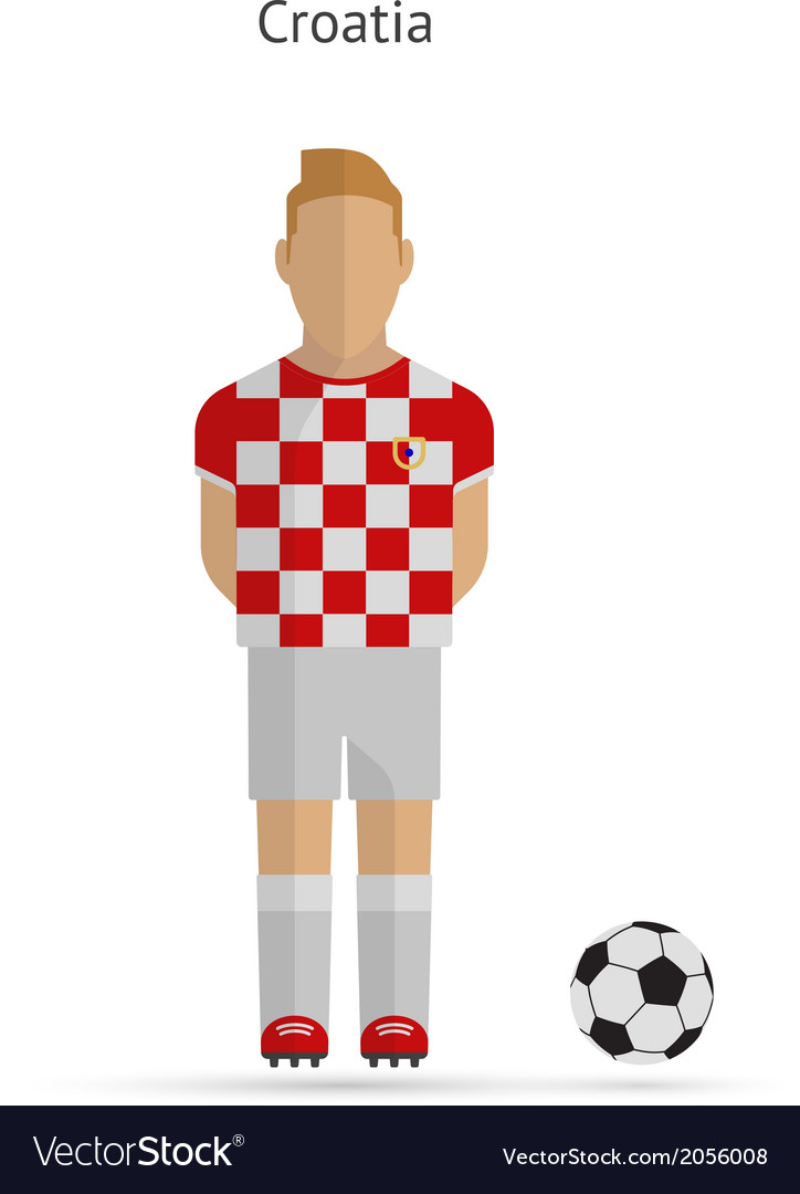 National football player croatia soccer team vector | Price: 1 Credit (USD $1)