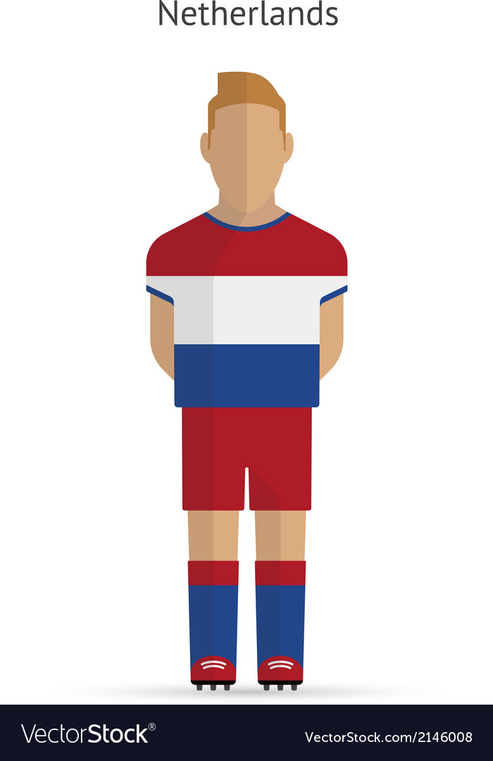 Netherlands football player soccer uniform vector | Price: 1 Credit (USD $1)