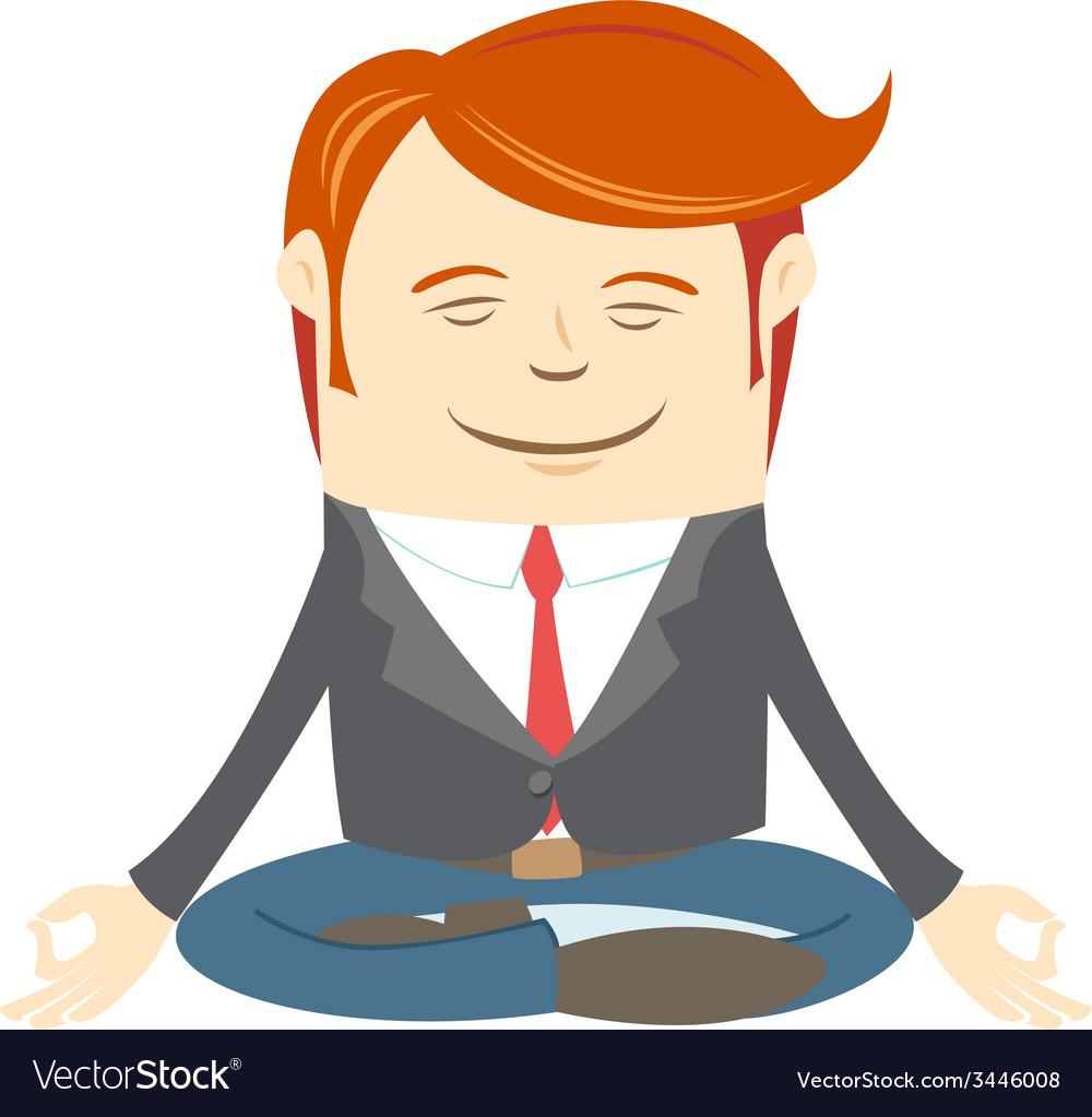 Office man meditating vector | Price: 1 Credit (USD $1)