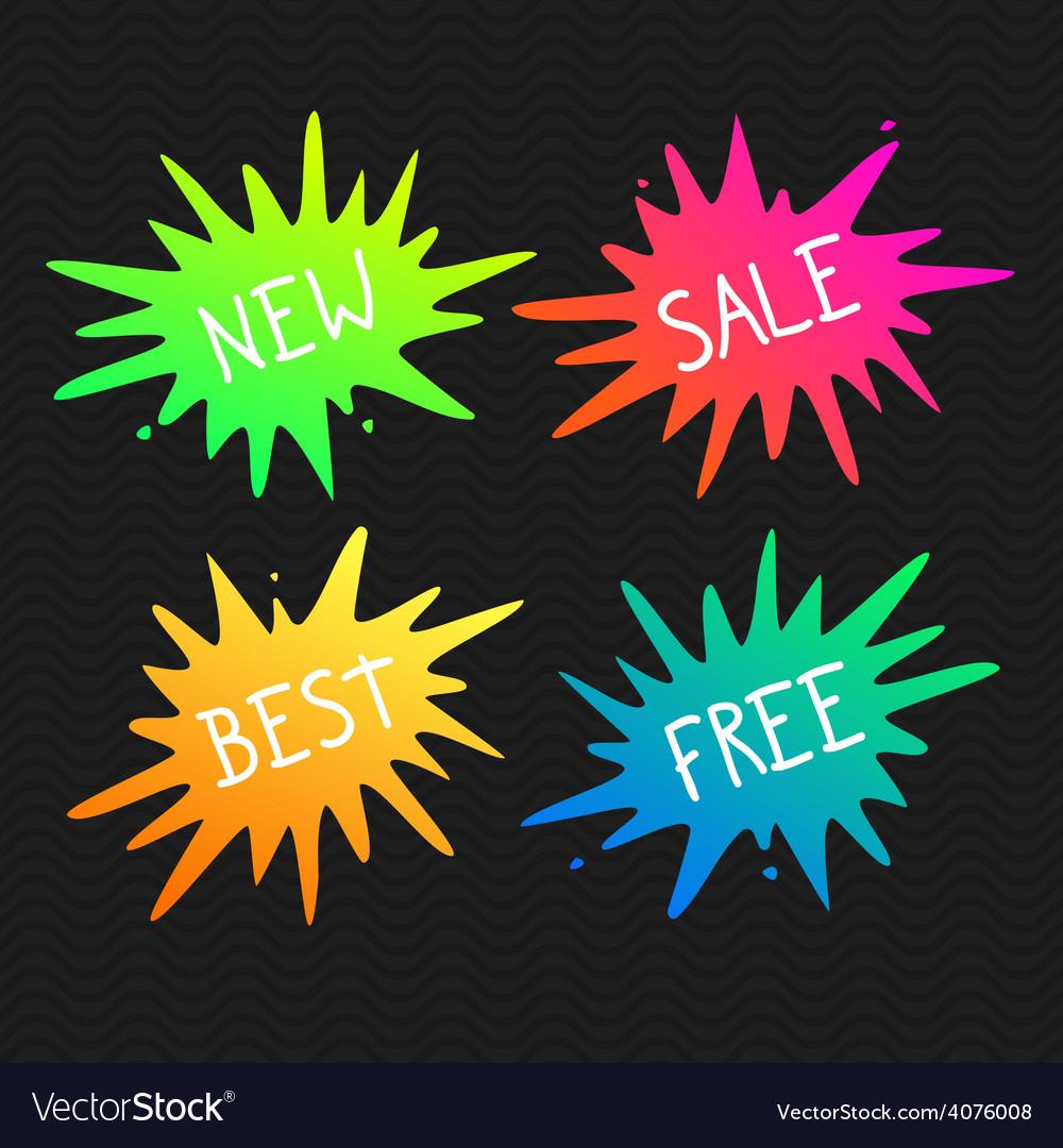 Splash banners vivid splats vector | Price: 1 Credit (USD $1)