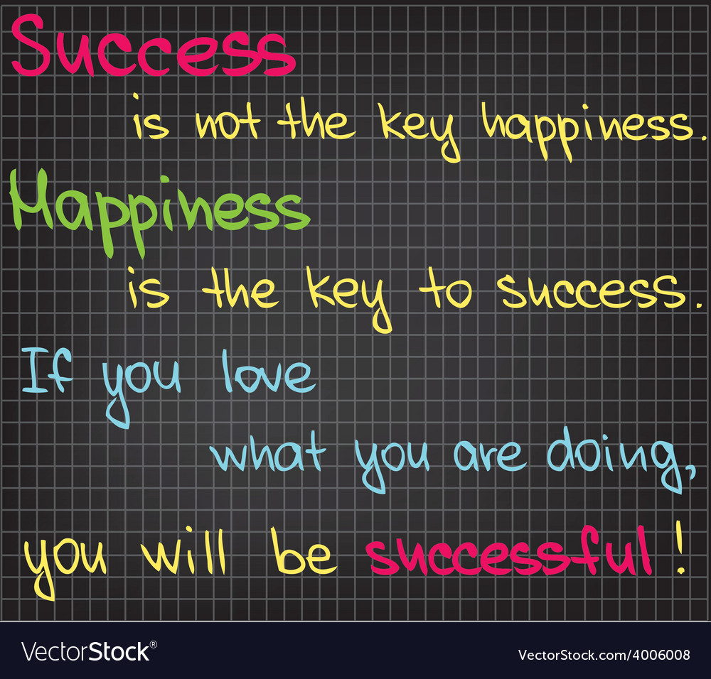 Success is not the key vector | Price: 1 Credit (USD $1)