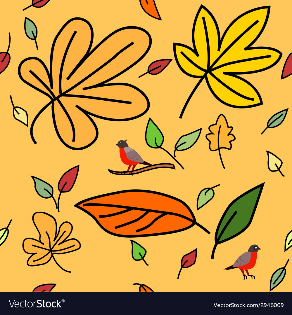 2 autumn pattern vector | Price: 1 Credit (USD $1)