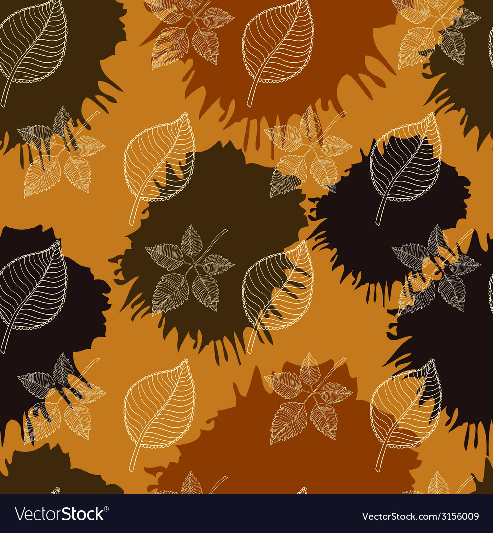Autumn seamless patternabstract leaf vector | Price: 1 Credit (USD $1)
