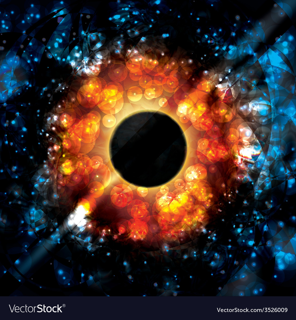 Black hole supermassive gravity universe space vector | Price: 1 Credit (USD $1)