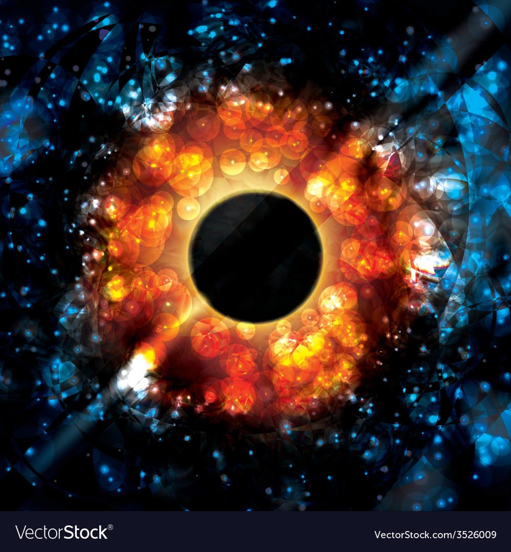 Black hole supermassive gravity universe space vector | Price: 1 Credit (USD $1)