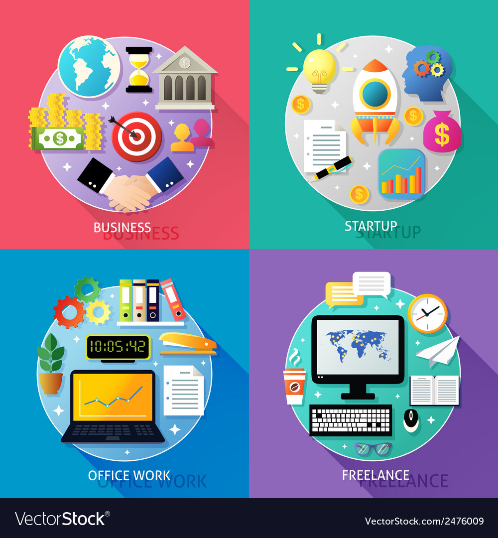 Business types concept vector | Price: 1 Credit (USD $1)