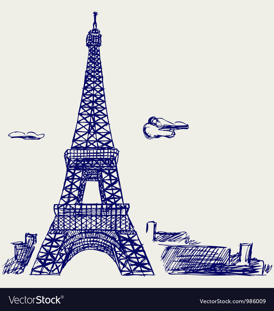 Eiffel tower in paris vector | Price: 1 Credit (USD $1)