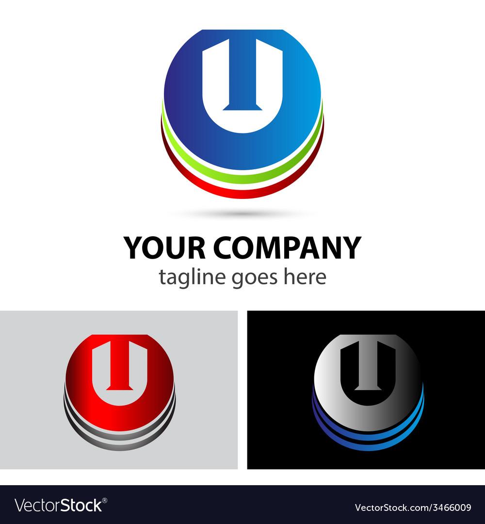 Elegant alphabet symbol logo letter t vector | Price: 1 Credit (USD $1)