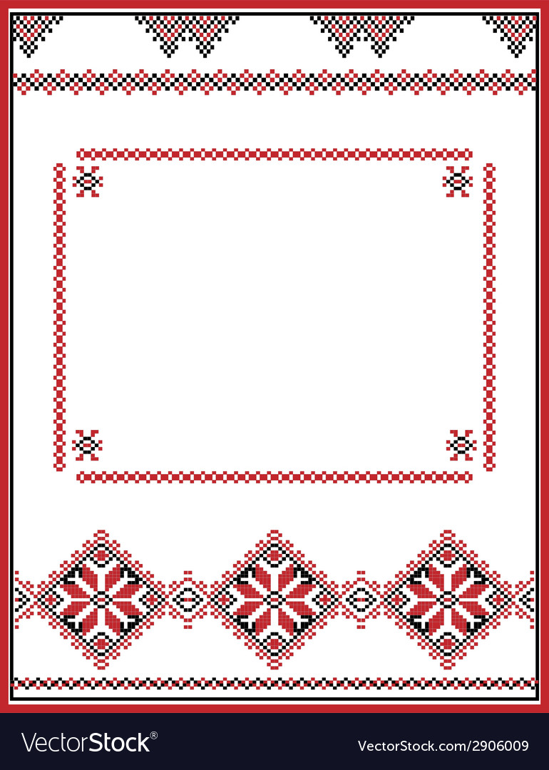 Embroidery abstract template frame for your vector | Price: 1 Credit (USD $1)