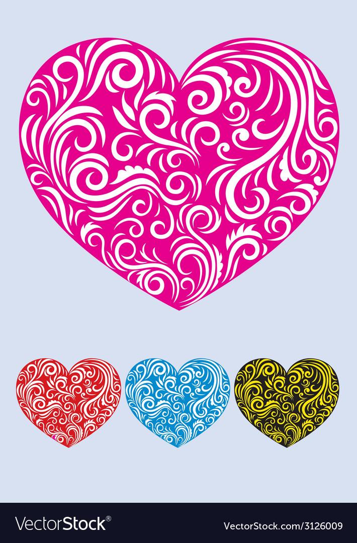 Heart love decor vector | Price: 1 Credit (USD $1)