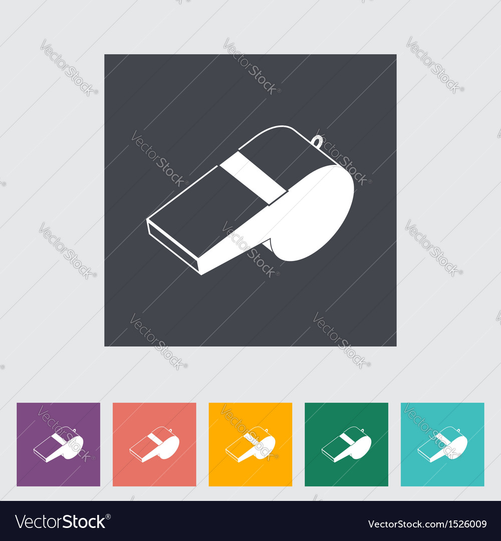 Icon sports whistle vector | Price: 1 Credit (USD $1)