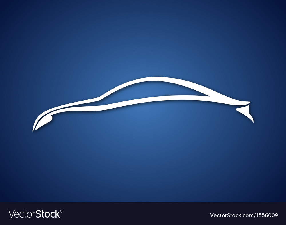 Logo of automobile over blue vector | Price: 1 Credit (USD $1)