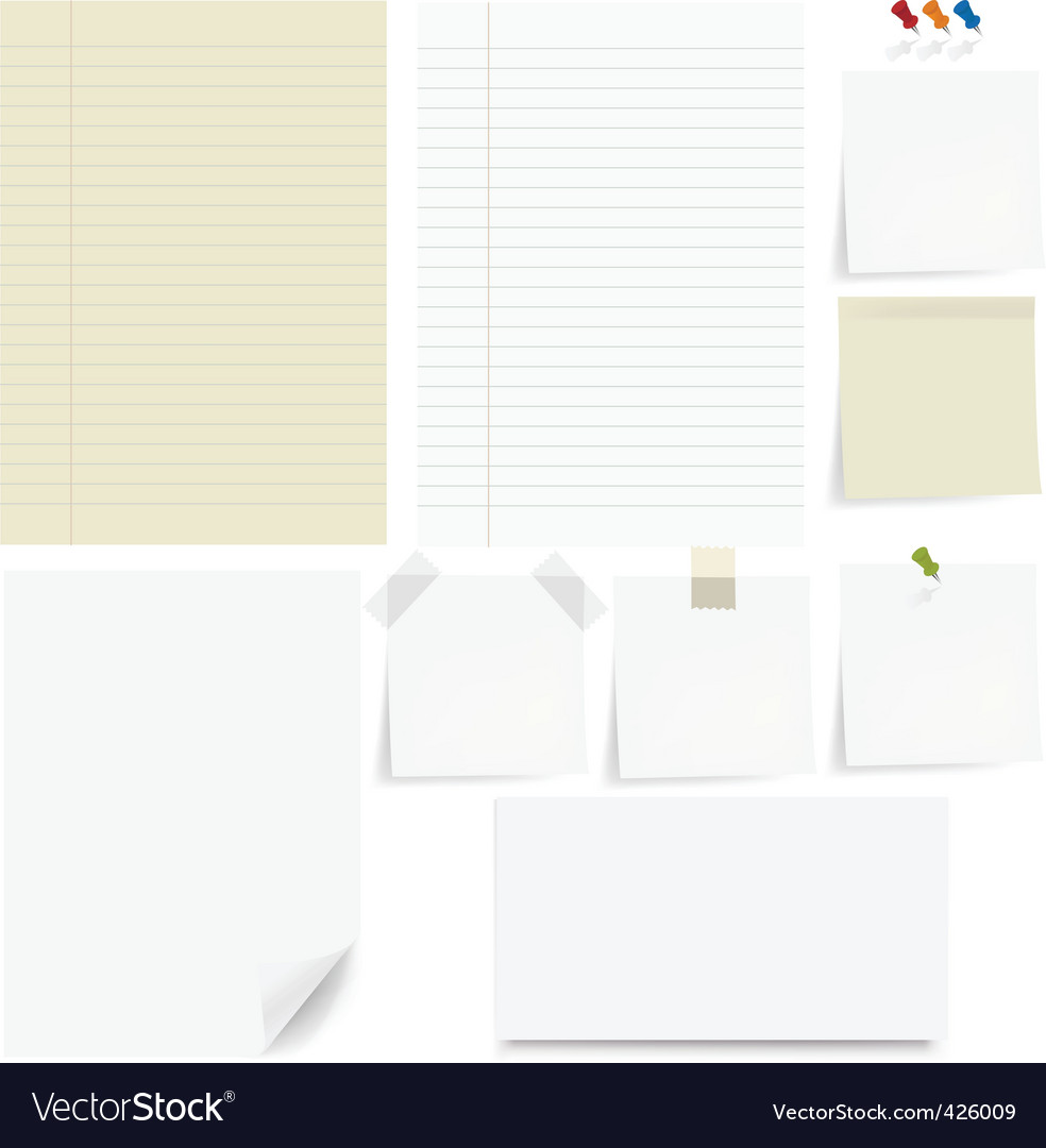 Paper set vector | Price: 1 Credit (USD $1)