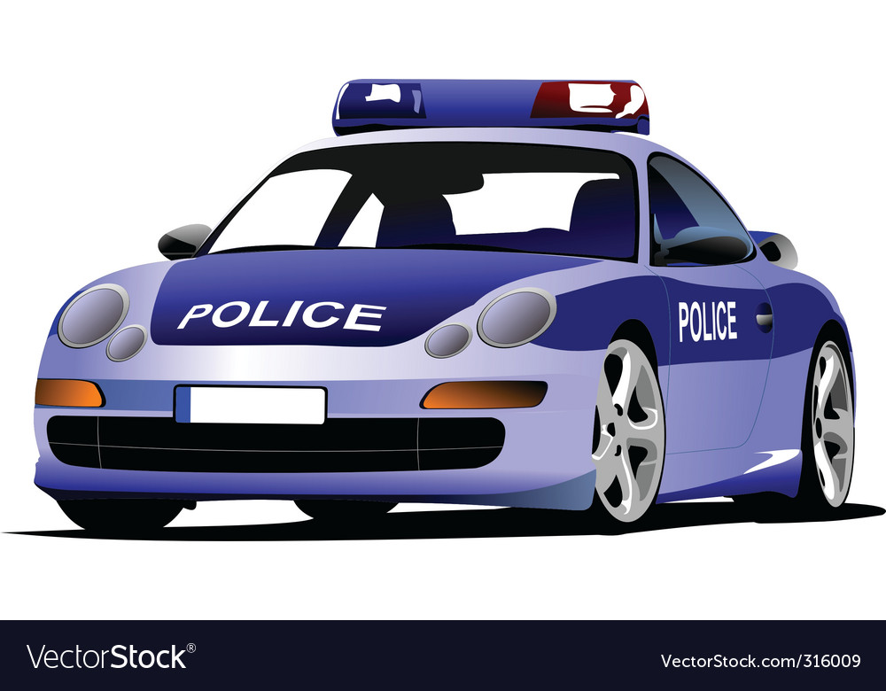 Police car vector | Price: 3 Credit (USD $3)