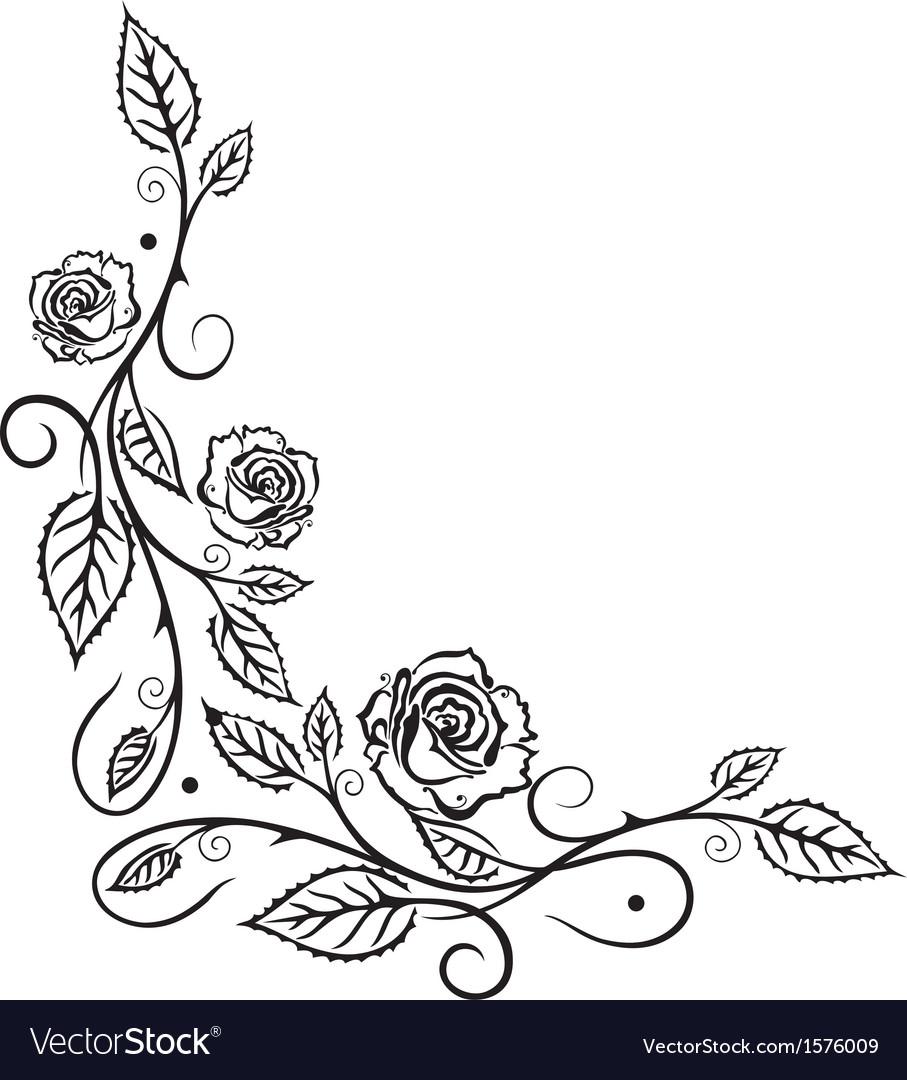 Rose leaves flower vector | Price: 1 Credit (USD $1)