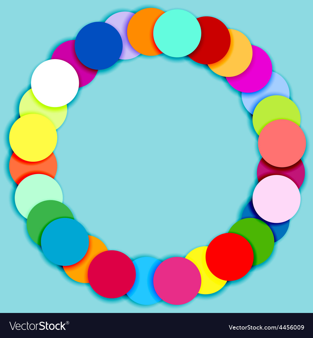 Round frame made of multicolor circles vector | Price: 1 Credit (USD $1)