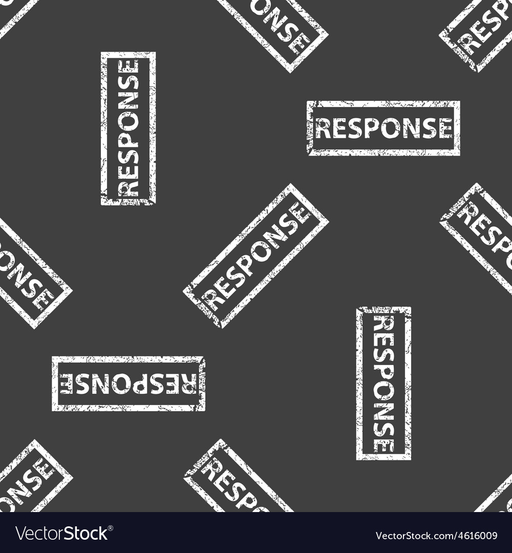 Rubber stamp response pattern vector | Price: 1 Credit (USD $1)