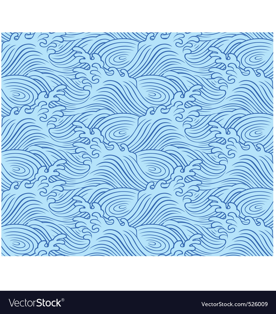 Seamless wave pattern vector   Price: 1 Credit (USD $1)