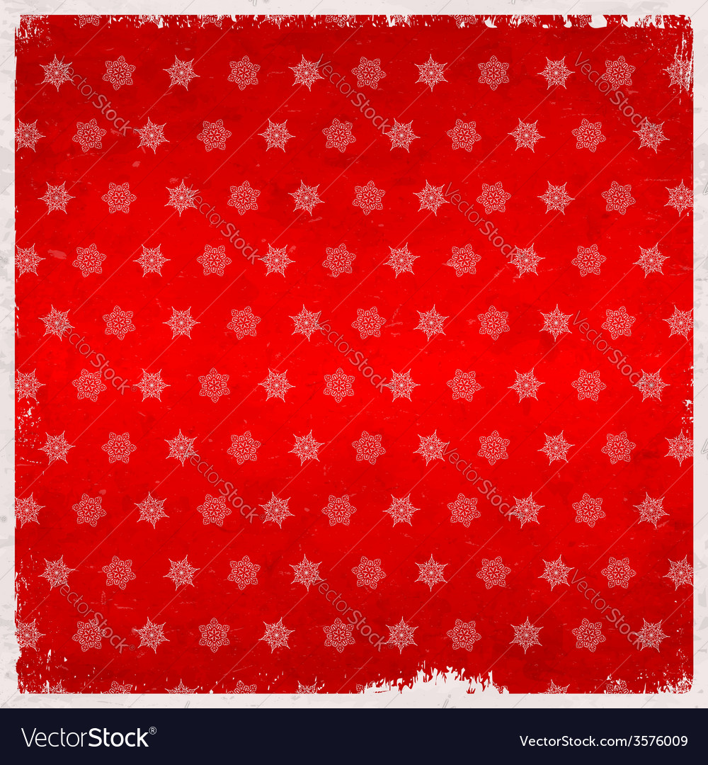 Snowflake pattern on aged card vector | Price: 1 Credit (USD $1)