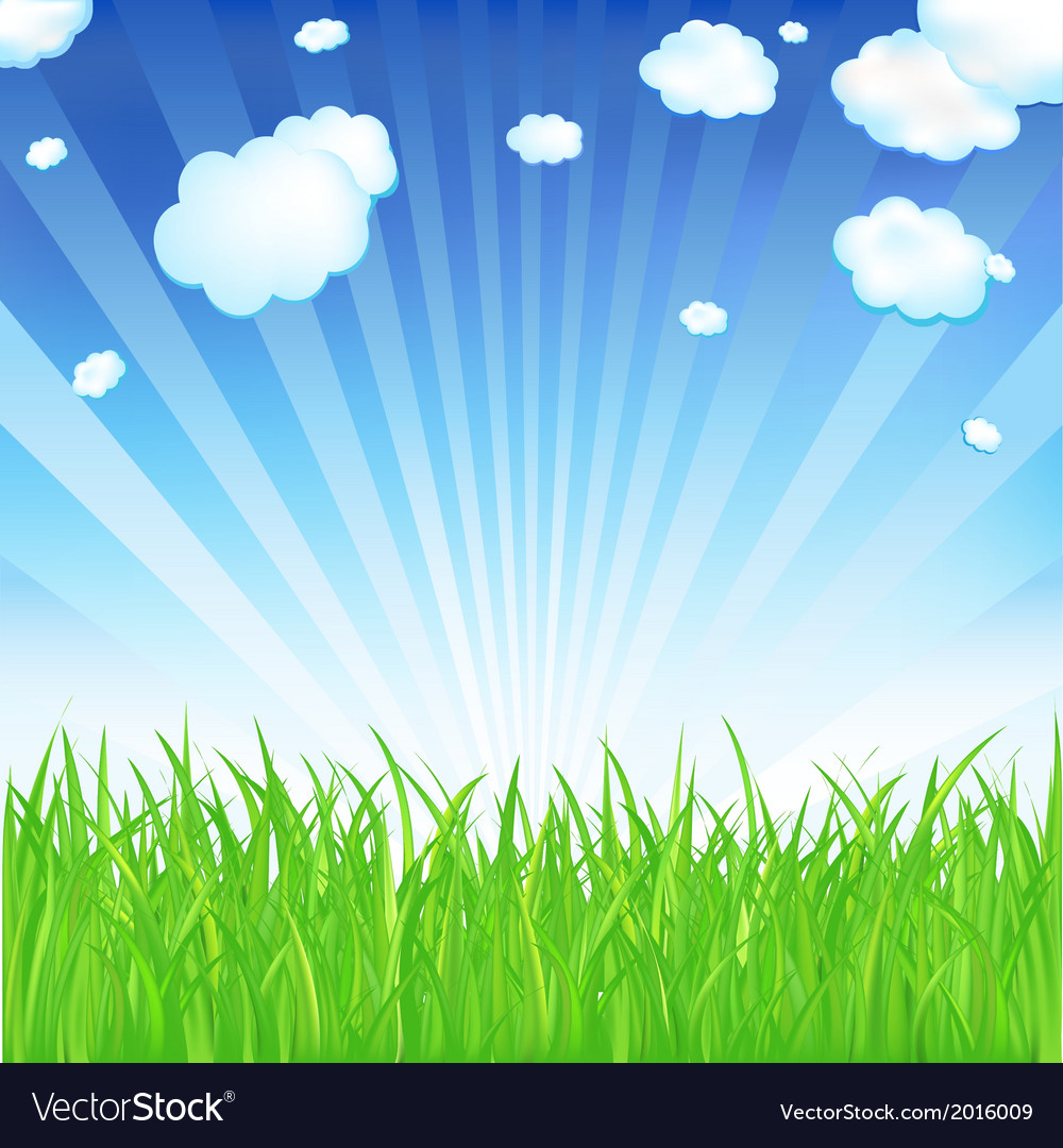 Spring grass vector | Price: 1 Credit (USD $1)