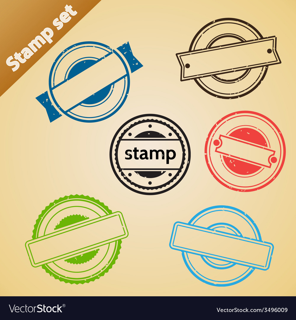 Stamp set vector | Price: 1 Credit (USD $1)
