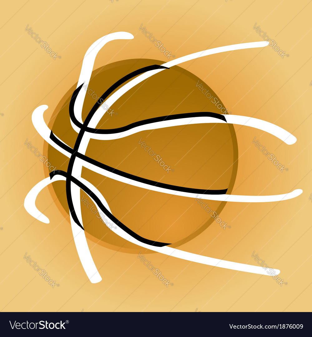 Stylized basketball vector | Price: 1 Credit (USD $1)
