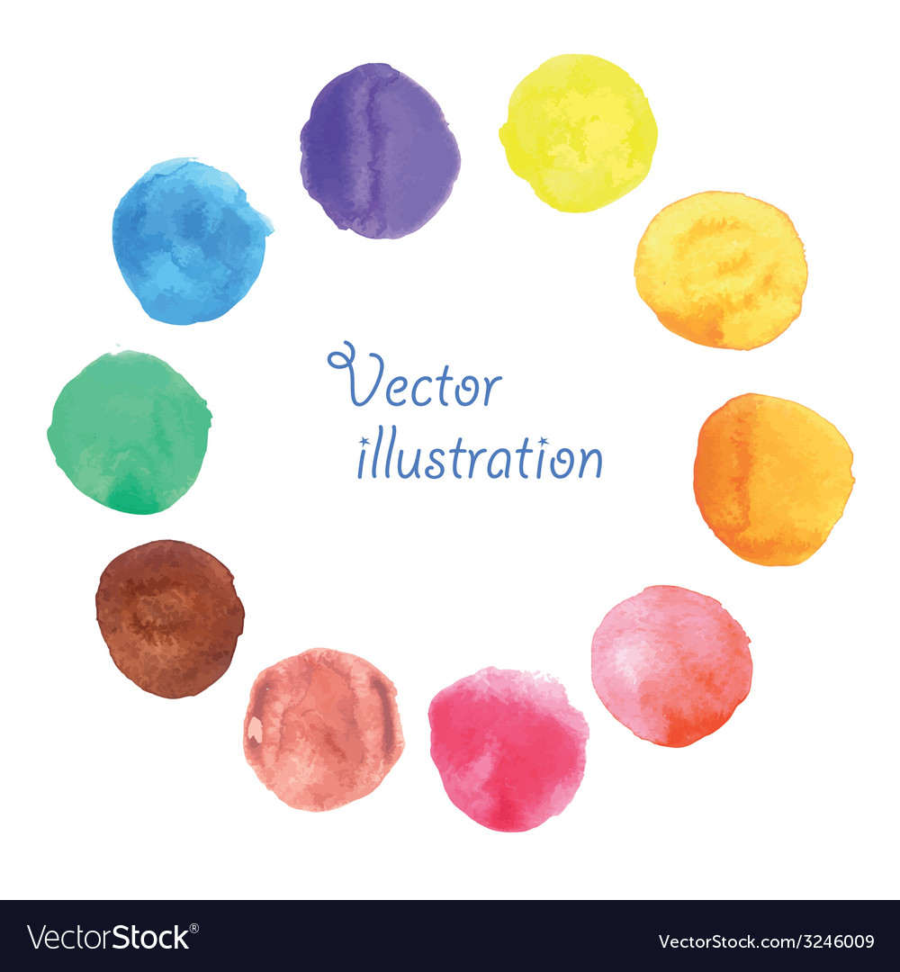 Watercolor stains vector | Price: 1 Credit (USD $1)