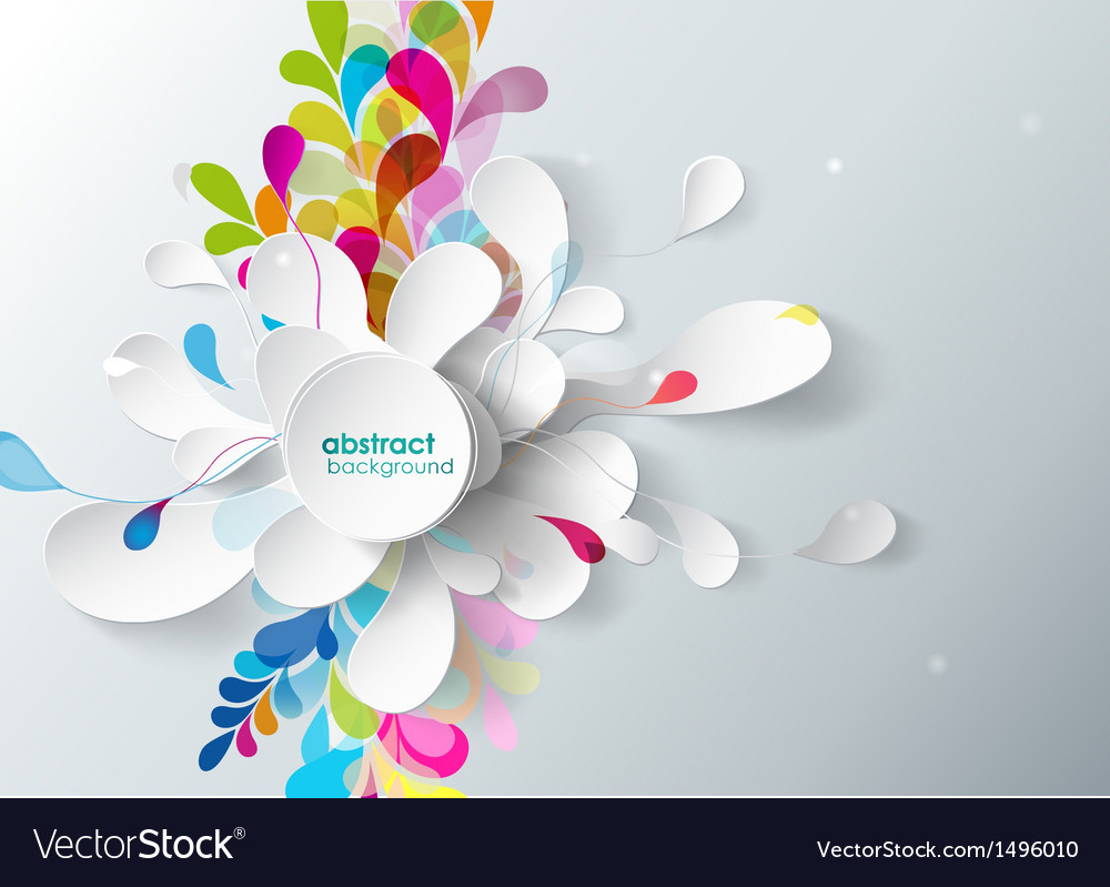 Abstract background with paper flower vector | Price: 1 Credit (USD $1)