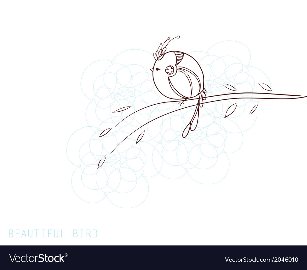 Beautiful decorative bird vector | Price: 1 Credit (USD $1)