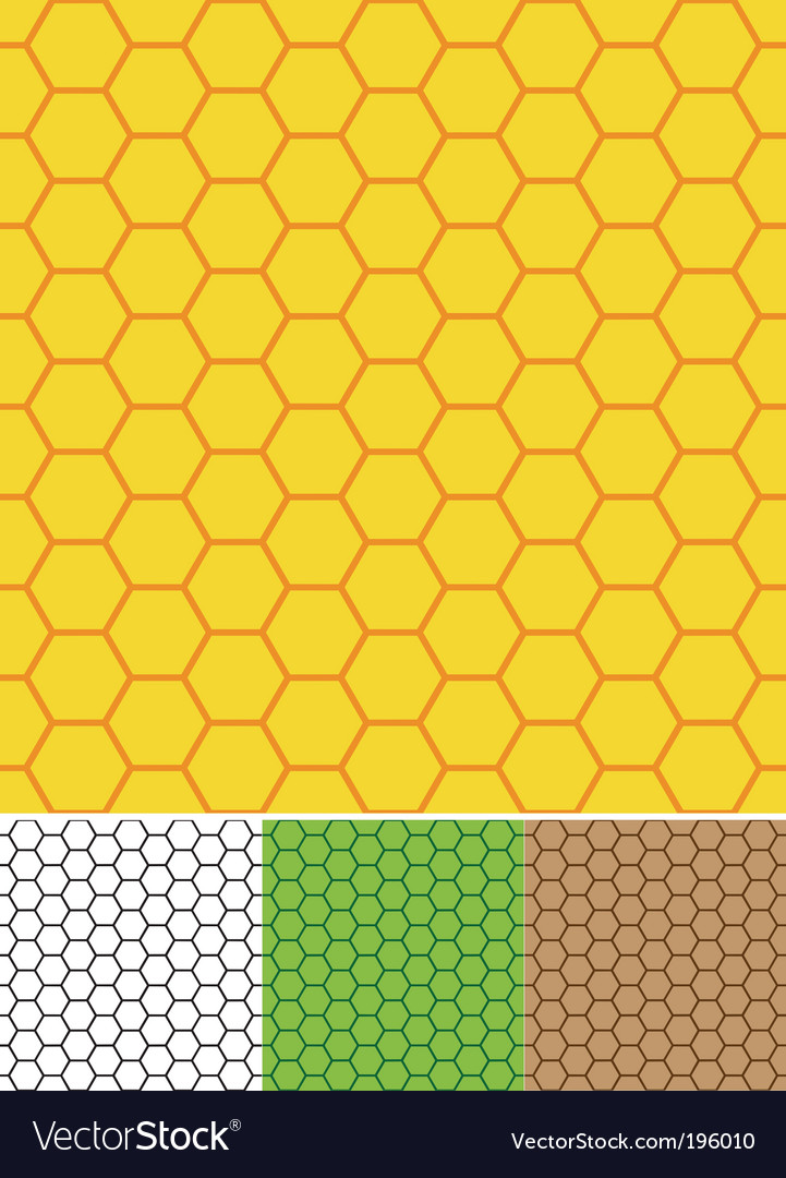 Bee cells seamless texture vector | Price: 1 Credit (USD $1)