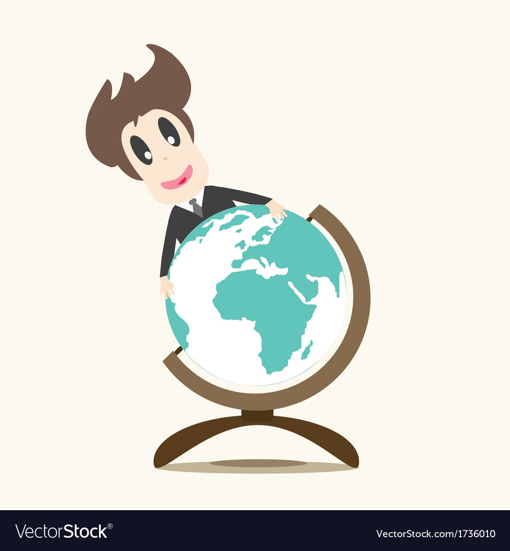 Business man on earth vector | Price: 1 Credit (USD $1)