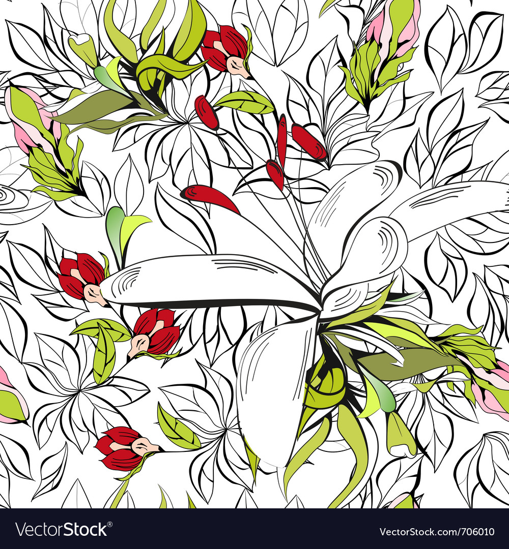 Decorative seamless pattern vector | Price: 1 Credit (USD $1)