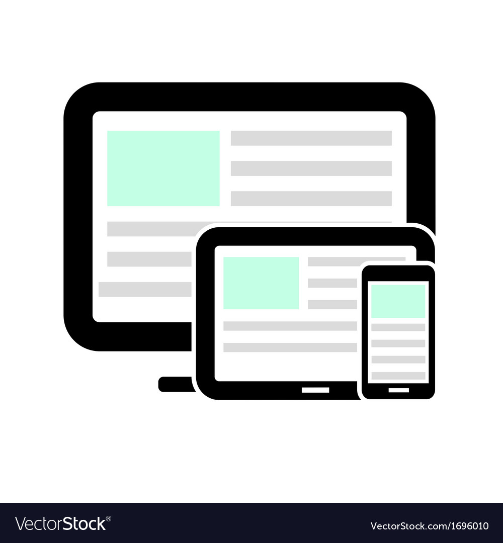 Display tablet computer and mobile phone vector | Price: 1 Credit (USD $1)