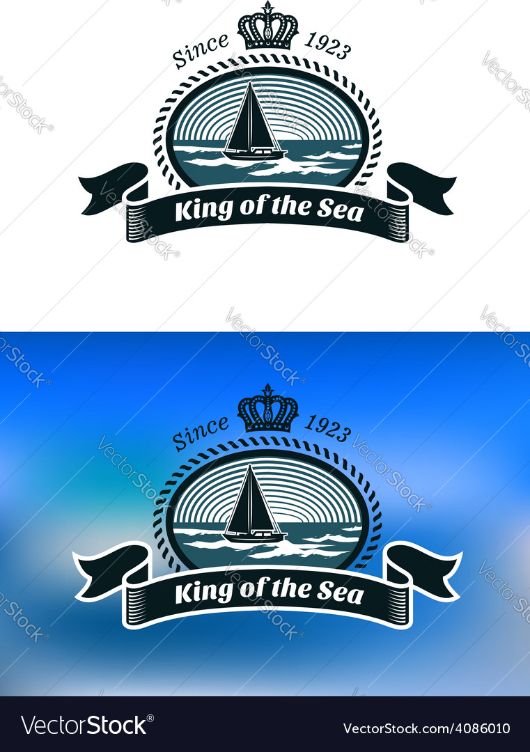 Emblem of the royal yacht club vector | Price: 1 Credit (USD $1)